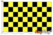- BLACK AND YELLOW CHECK ANYFLAG RANGE - VARIOUS SIZES
